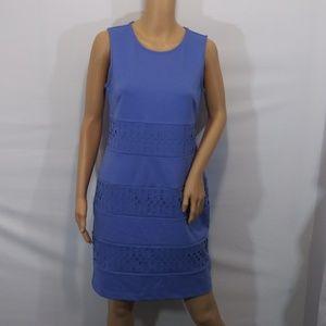 Apt. 9 Laser Cutout Sleeveless Dress Zip Back Sz S